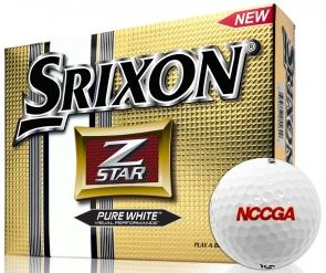 Srixon z star golf balls with nccga logo