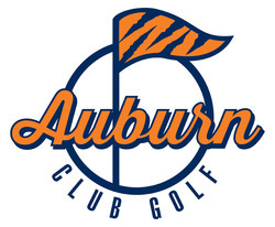Auburn club golf old logo white background