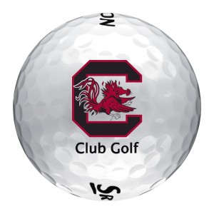 S logo golf ball