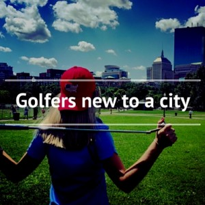 Golfers new to a city
