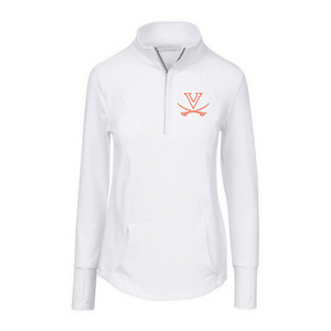 Haus of grey women's Miranda white half zip