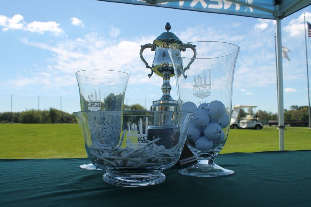 City Tour golf trophies