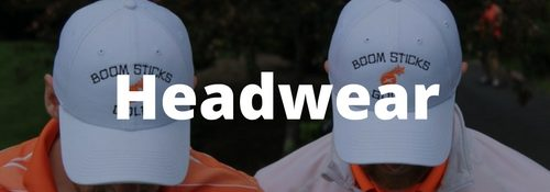 golf headwear player shop banner