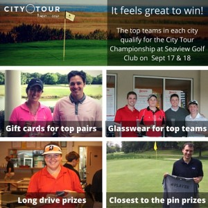 Prizes for winning on the Nextgengolf City Tour