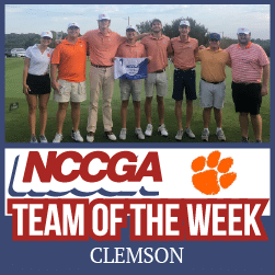 Clemson team of the week NCCGA