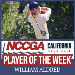 William Aldred player of the week NCCGA